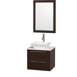 Wyndham Collection 'Amare' 24-inch Espresso/ White Top/ White Sink Vanity Set