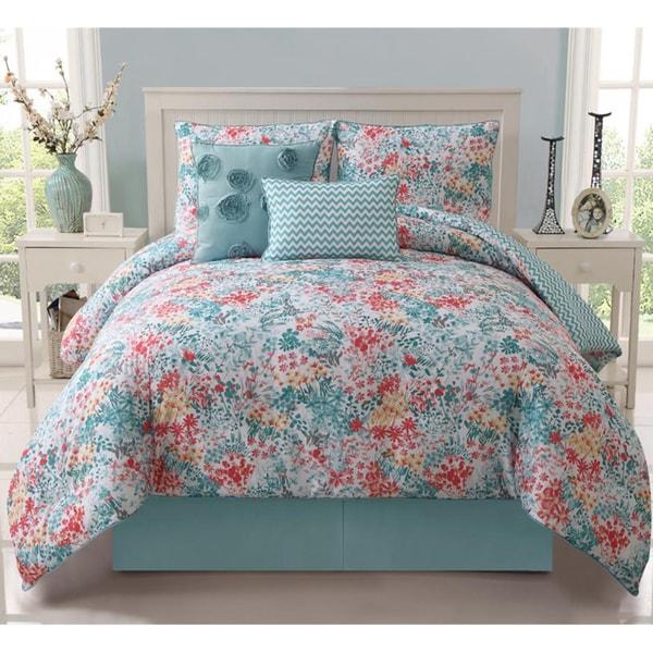 VCNY Kayla 5-piece Reversible Comforter Set
