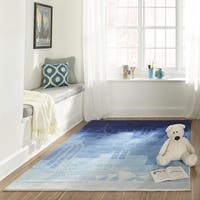 Momeni Lil Mo Hipster Blue Urban Landscape Hand-Tufted Rug - 8' x 10'