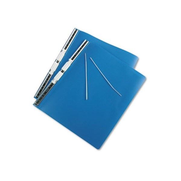 11 x 14.875 Blue Hanging Data Binder with Accohide Cover