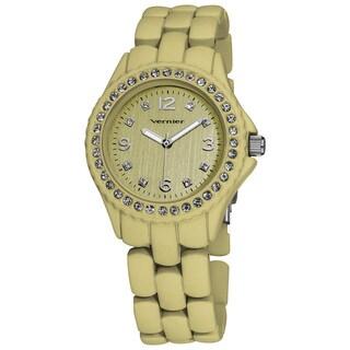 Vernier Ladies Soft Touch Beige Pastel Bracelet Quartz Fashion Watch