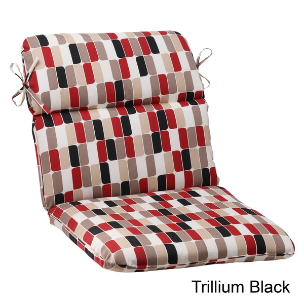 Pillow Perfect Trillium Polyester Rounded Outdoor Chair Cushion