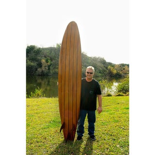 Old Modern Handicrafts 9-Foot Cedar Surf Board