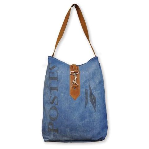 Leather/ Denim Bag