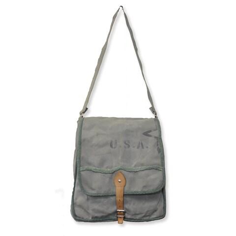 Handmade U.S.A Star Canvas Messenger Bag (India)