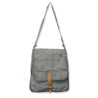 Handmade U.S.A Star Canvas Messenger Bag (India)