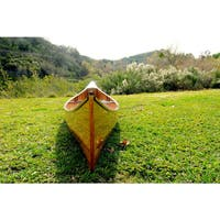 Old Modern Handicrafts 18-Foot Functional Ribbed Canoe