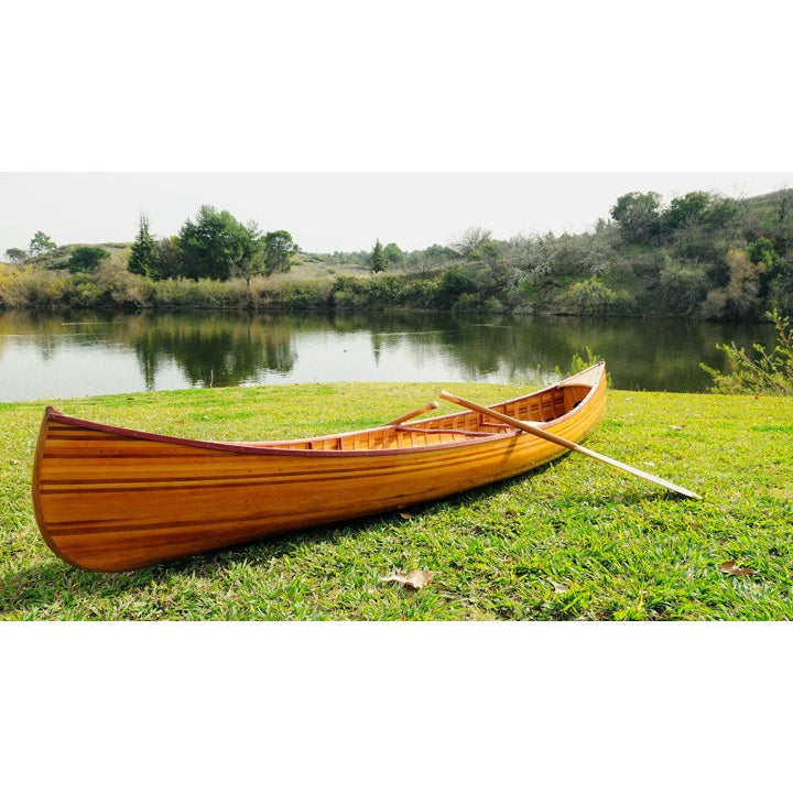 Old Modern Handicrafts 12-Foot Curved Bow Ribbed Canoe (C...