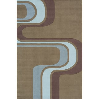 Momeni 'Lil Mo Hipster Groovy Stripe Green Rug (5' x 7')