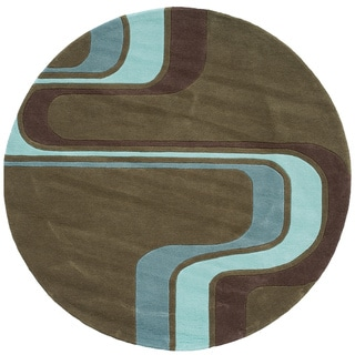 Momeni 'Lil Mo Hipster Groovy Stripe Green Rug (5' Round)