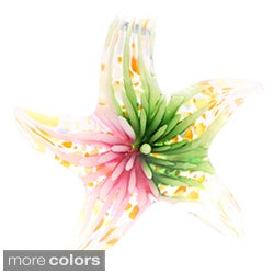 Murano-Inspired Polished Glass Blooming Star Necklace Pendant
