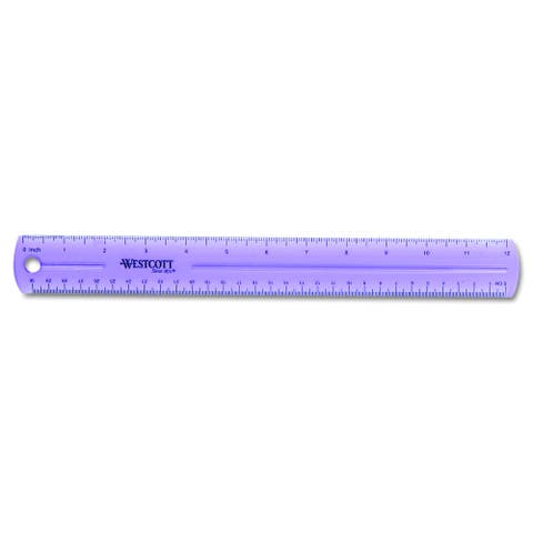 Hole Punched Plastic English and Metric Ruler