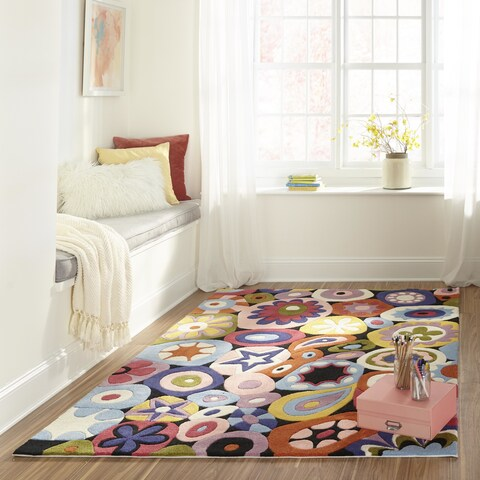 Momeni Lil Mo Hipster Multicolor Confetti Hand-Tufted Rug - 5' x 5' Round