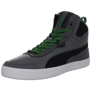 Puma Men's 'Suburb Mid L PN' Leather and Fabric Sneakers