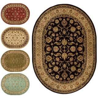 Well Woven Oriental Oval Formal Area Rug - 5'3 x 6'10