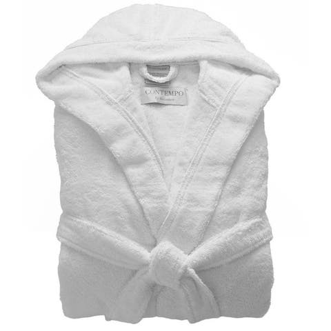 Hooded Turkish Cotton Bath Robe
