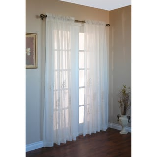 Hydrangea Sheer 84-inch Curtain Panel Pair
