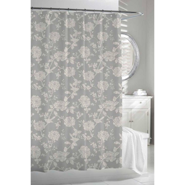 Garden Birds Grey Beige Shower Curtain Free Shipping On Orders Over 45