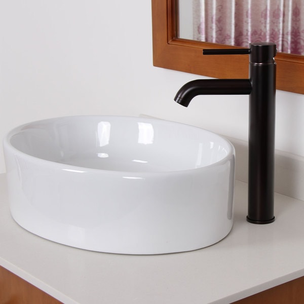 Elite Oil Rubbed Bronze Bathroom Vessel Sink Faucet   Free Shipping Today    Overstock.com   15233497