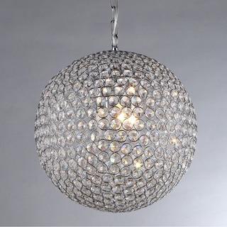 'Prometheus' Chrome and Crystal 4-light Chandelier