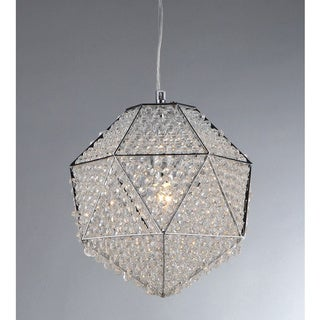 'Poseidon' Chrome and Crystal 1-light Chandelier