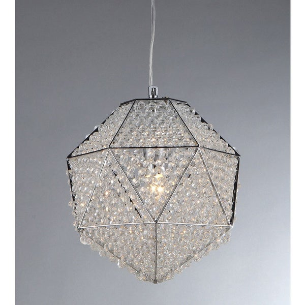Shop 'Poseidon' Chrome And Crystal 1-light Chandelier
