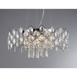 'Persephone' Chrome and Crystal 6-light Chandelier