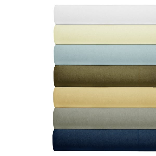 Cotton 630 Thread Count Deep Pocket Solid Color Sheet Set