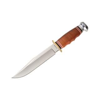 Ka-Bar Leather Handle Bowie Knife