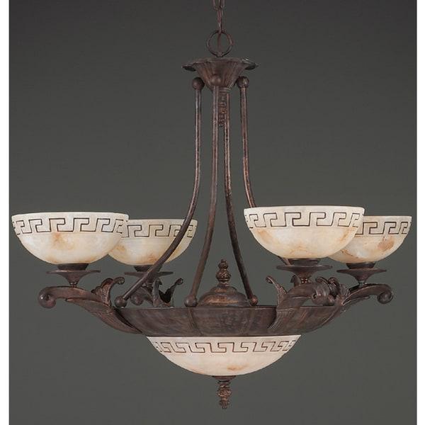 Wilshire Delphi Collection Bronze Seven-Light Chandelier