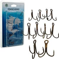 Gone Fishing Treble Hooks Assorted Sizes (Set of 10)