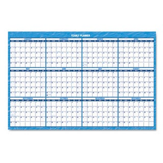 Recycled Erasable 2015 Horizontal Wall Planner