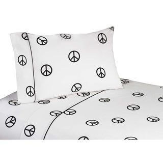 Sweet JoJo Designs 200 Thread Count Groovy Peace Sign Bedding Collection Sheet Sets