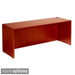 Boss 71-inch Cherry or Mahogany Finished Desk Shell