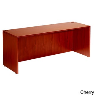 Boss 71-inch Cherry or Mahogany Finished Desk Shell (Option: Red - Cherry Finish)