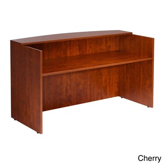 Boss 71-inch Cherry or Mahogany Finished Receptionist Desk (Option: Cherry - Cherry Finish)
