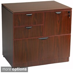 """Boss Office Products Combo Lateral File in Cherry Laminate Finish 31""""x22"""""""