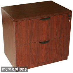 Boss Two Drawer Cherry Or Mahogany Finished Lateral File
