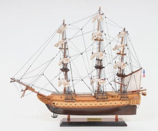 Old Modern Handicrafts USS Contitution Small Model Ship