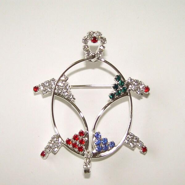 Detti Originals Turtle Wire and Crystal Pin