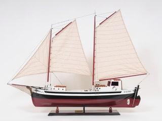 Old Modern Handicrafts La Gaspesienne Painted Model Ship