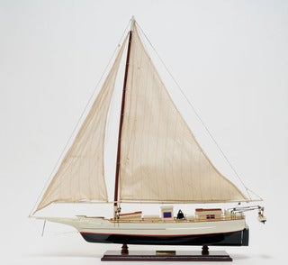 Old Modern Handicrafts Skipjack Painted Model Ship