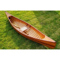 Old Modern Handicrafts 10-Foot Ribbed Curved Bow Canoe - Brown