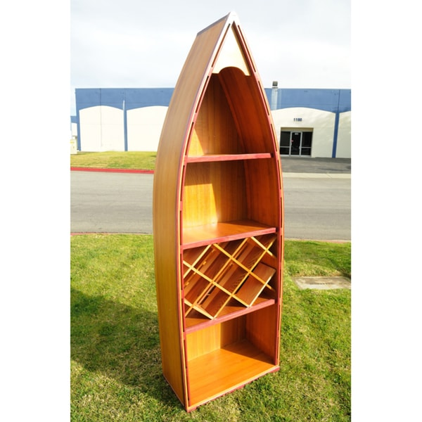 Old Modern Handicrafts Canoe Wine Shelf