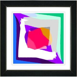 Studio Works Modern 'Sangita Red' Framed Print