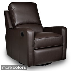 Perth Leather Swivel Glider Recliner