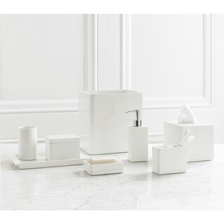 Solid Lacquer White Bath Accessory Collection (5 options available)