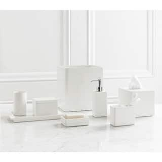 solid lacquer white bath accessory collection - White Bathroom Accessories Ceramic