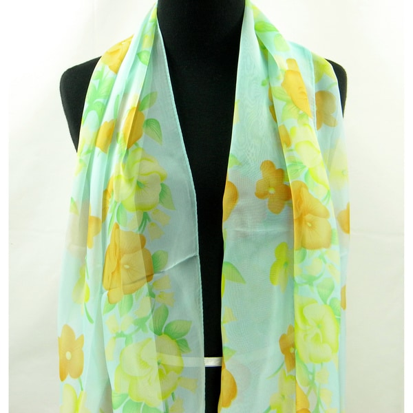 Cascades of Flowers Spring/ Summer Fashion Scarf