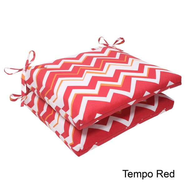 Pillow Perfect Tempo Polyester Squared Outdoor Seat Cushions (Set of 2)
